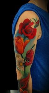Flower Sleeve Tattoos for Guys