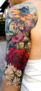 Flower Tattoo Sleeve Ideas
