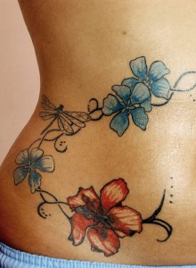 Flower Waist Tattoos