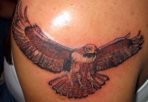 Flying Hawk Tattoo