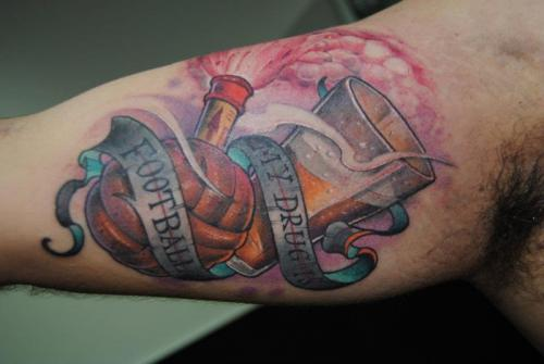 Football Tattoos Desig...