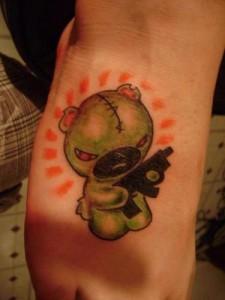Gangster Teddy Bear Tattoos