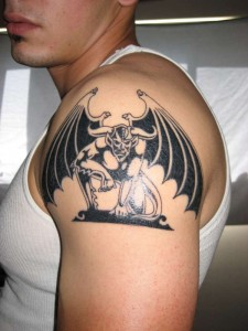 Gargoyle Shoulder Tattoo