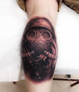 Gas Mask Tattoo Images