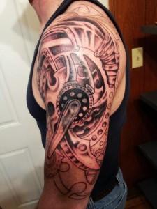 Gear Arm Tattoo