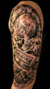 Gear Tattoo Half Sleeve