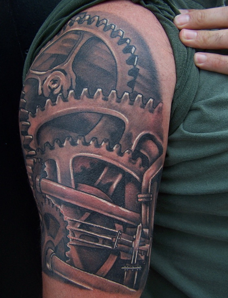 gear tattoos designs  ideas and meaning