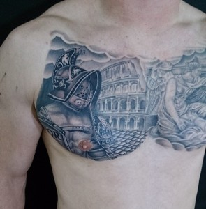Gladiator Chest Tattoo