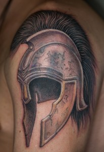 Gladiator Helmet Tattoo