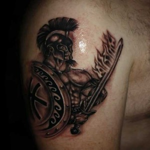 Gladiator Tattoo Arm