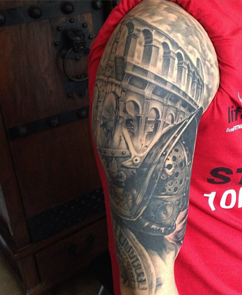 Gladiator Tattoos Designs Ideas And Meaning Tattoos For You