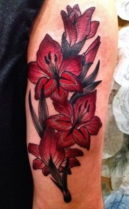 Gladiolus Flower Tattoos