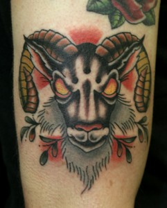 Goat Head Tattoo
