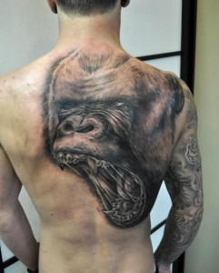 Gorilla Back Tattoo