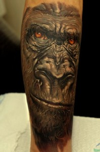 Gorilla Sleeve Tattoo