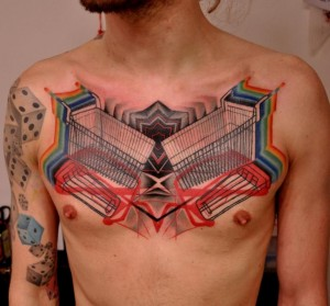 Graffiti Chest Tattoos