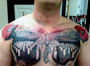 Graveyard Chest Tattoo
