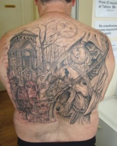 Graveyard Tattoo Back