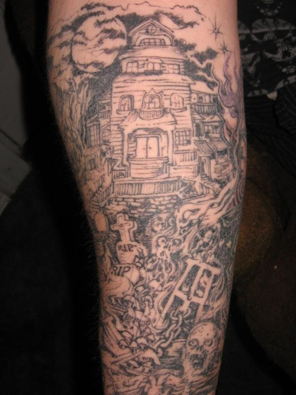 cemetery theme tattoo designs pictures to pin on pinterest tattooskid. Black Bedroom Furniture Sets. Home Design Ideas