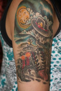 Graveyard Tattoo Shoulder