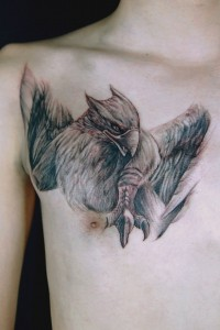 Griffin Chest Tattoo