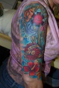Half Sleeve Flower Tattoo Designs