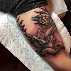 Hawk Tattoo Arm