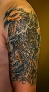 Hawk Tattoo Sleeve