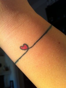 Heart Bracelet Tattoo