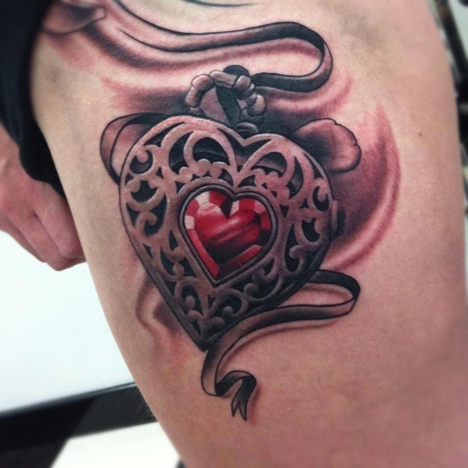 Tattoo Designs Heart: Heart Locket Tattoos Designs, Ideas And Meaning