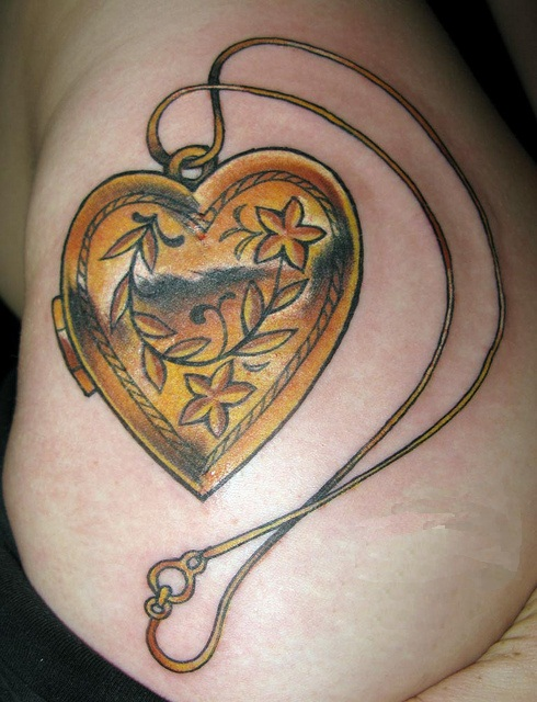Heart Locket Tattoos Designs, Ideas and Meaning | Tattoos ... | 490 x 640 jpeg 119kB