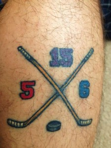 Hockey Stick Tattoos