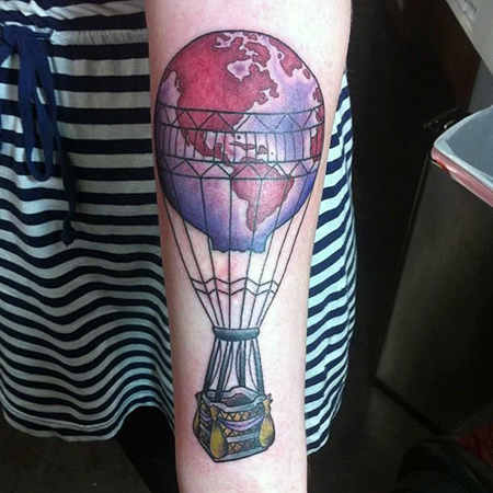 Hot Air Balloon Tattoos Designs Ideas And Meaning Tattoos For You