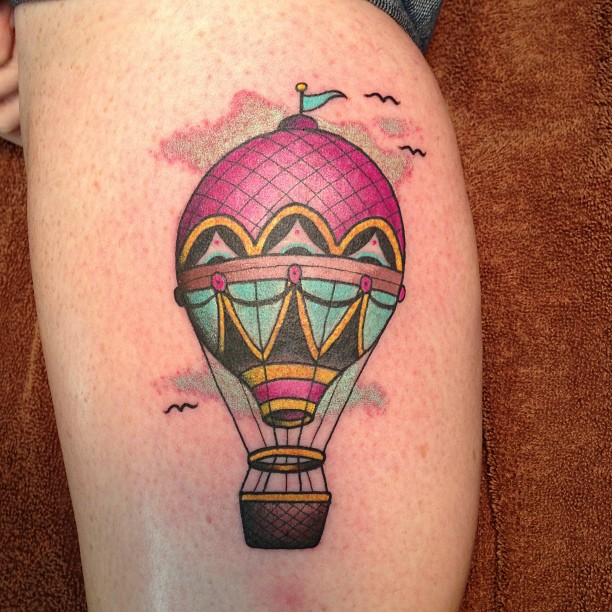 Underarm Tattoos Designs Ideas And Meaning: Hot Air Balloon Tattoos Designs, Ideas And Meaning