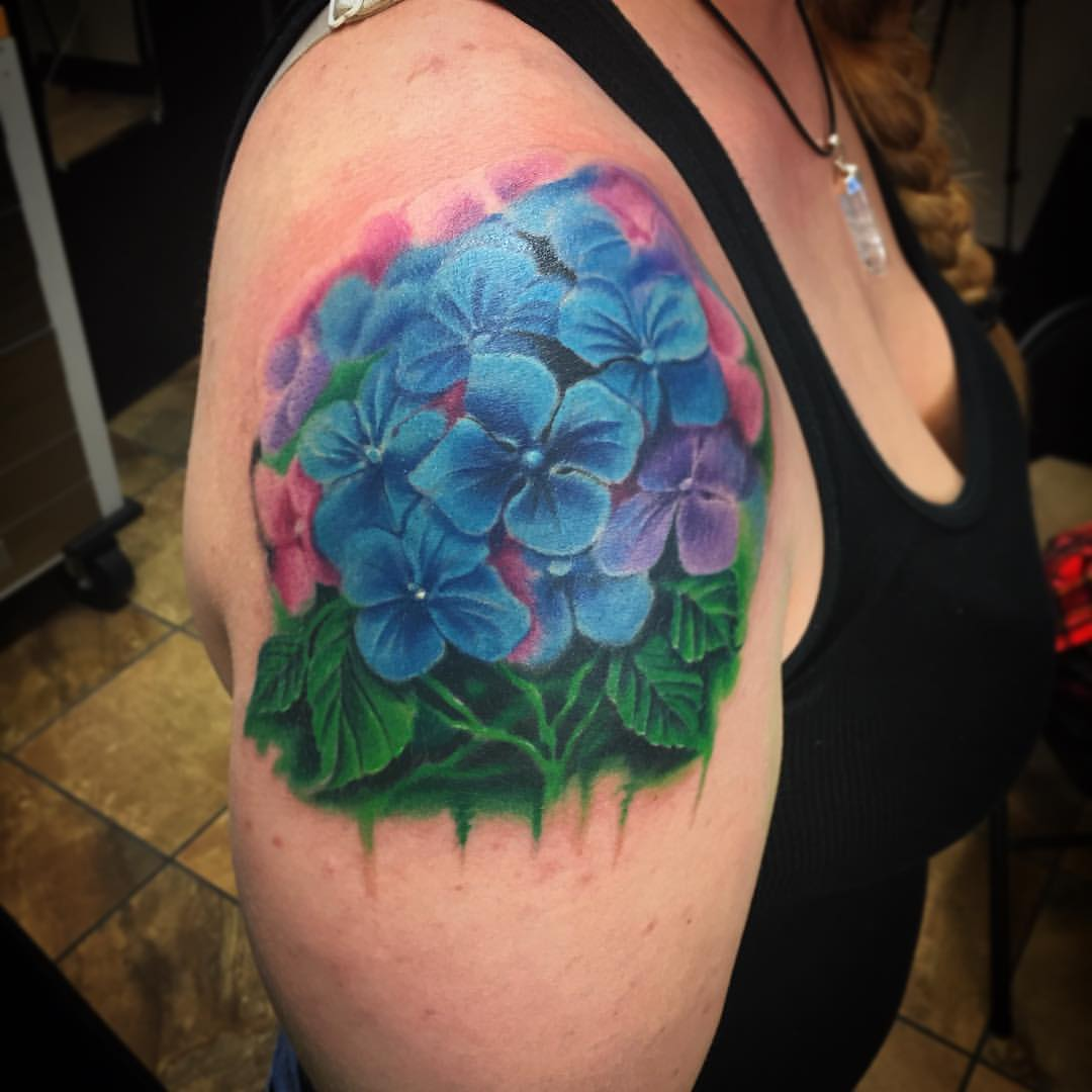 Hydrangea Tattoos Designs, Ideas And Meaning