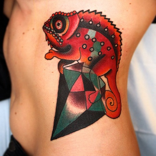 60 Colorful Chameleon Tattoo Ideas: Chameleon Tattoos Designs, Ideas And Meaning