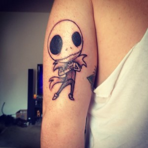 Jack Skellington Tattoo Small