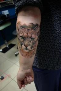 Jaguar Tattoo on Forearm