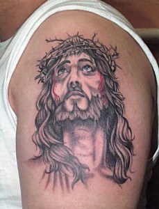Jesus Crown of Thorns Tattoo