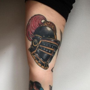 Knight Helmet Tattoo