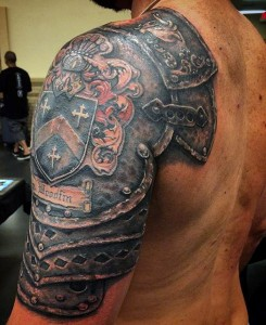 Knight Shield Tattoo