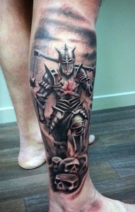 Knight Tattoo Designs for Men