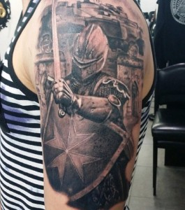 Knight Tattoo Half Sleeve