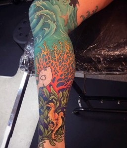 Leg Sleeve Tattoos Ocean