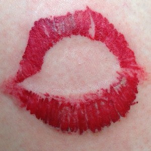 Lipstick Kiss Tattoo