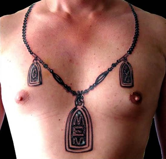 Locket tattoos designs ideas and meaning tattoos for you for Necklace tattoo designs
