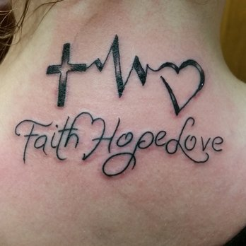 faith hope and love tattoos designs ideas and meaning tattoos for you. Black Bedroom Furniture Sets. Home Design Ideas