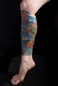 Lower Leg Sleeve Tattoos