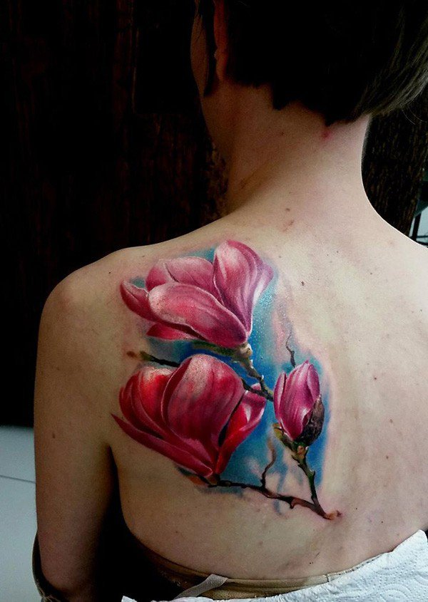 Men Who Love Black Women >> Magnolia Tattoos Designs, Ideas and Meaning   Tattoos For You