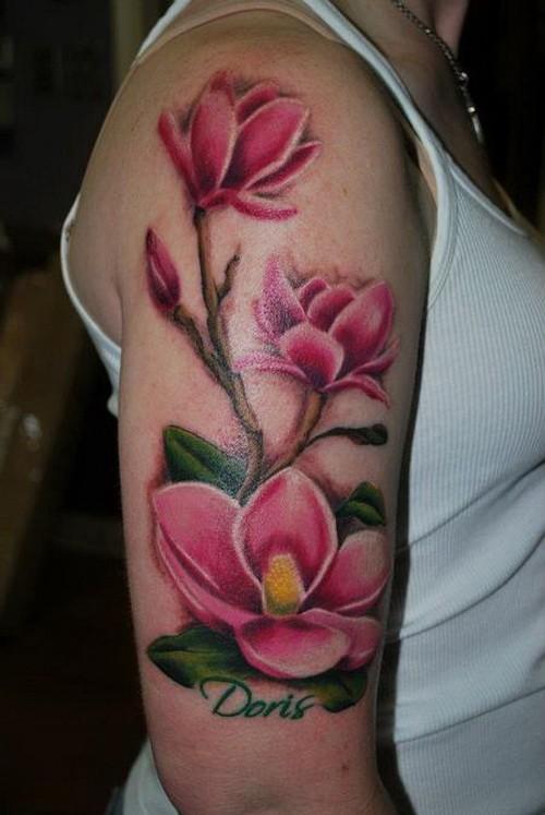 magnolia foot tattoo - photo #23